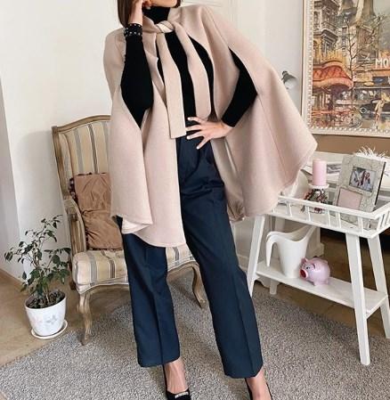 У моді пальто-накидка / Insragram