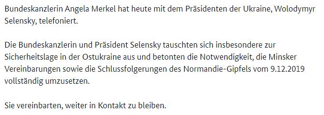 """У Зеленского """"упустили"""" очень важную деталь разговора с Меркель"""