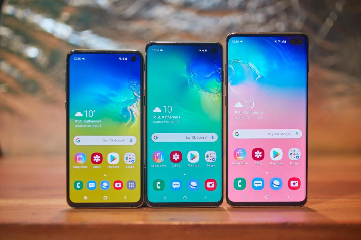 Дизайн всех моделей серии Samsung Galaxy S10