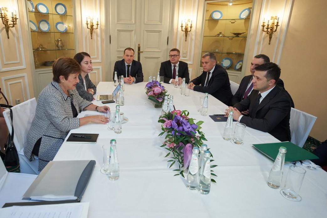Владимир Зеленский на встрече с главой МВФ