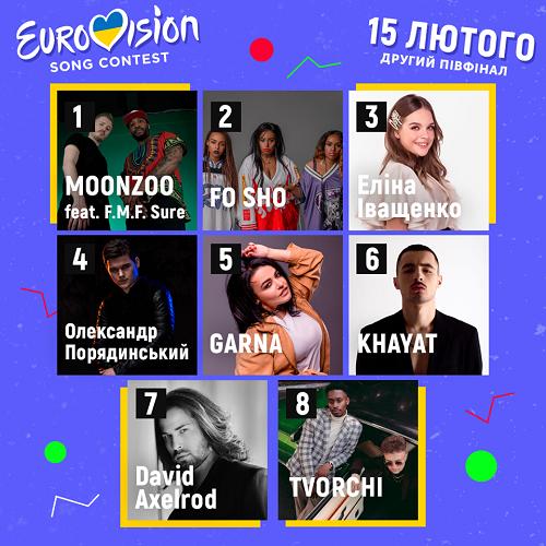 Отбор на Евровидение 2020 участники второго полуфинала