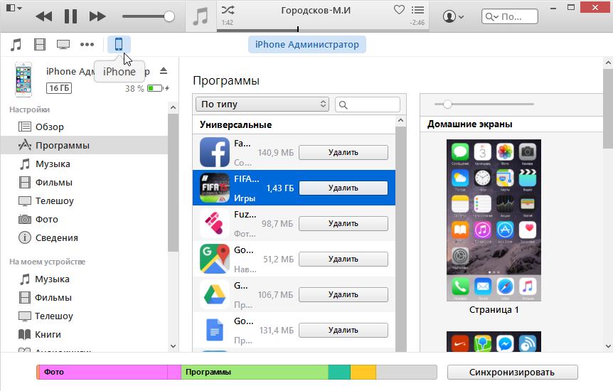 Вид иконки iPhone