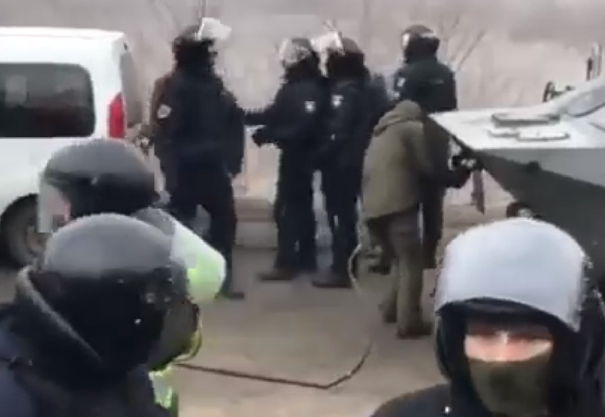 Новые Санжары, протест