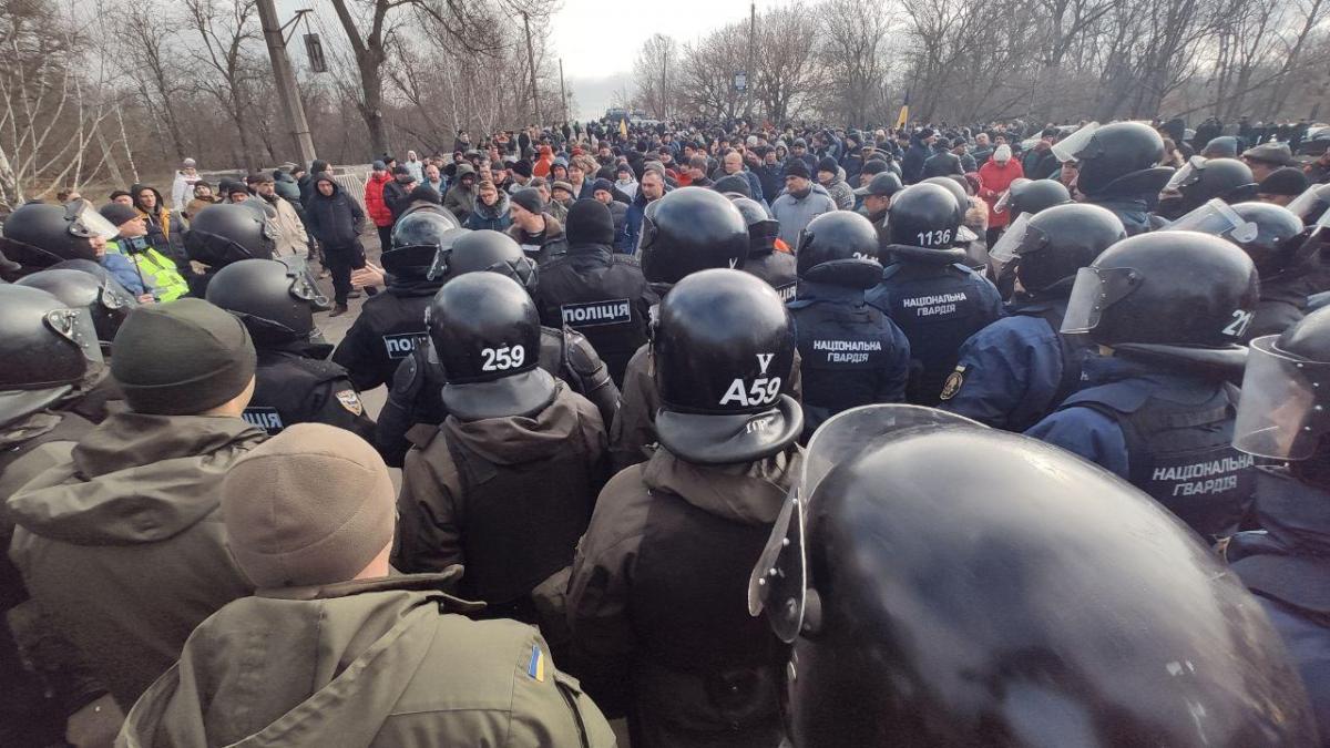 Протесты в Новых Санжарах