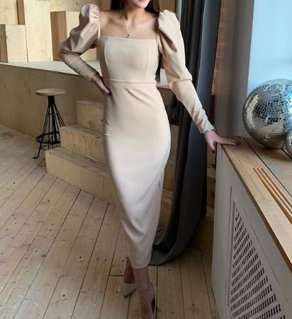 Сукня з рукавами-ліхтариками / Instagram