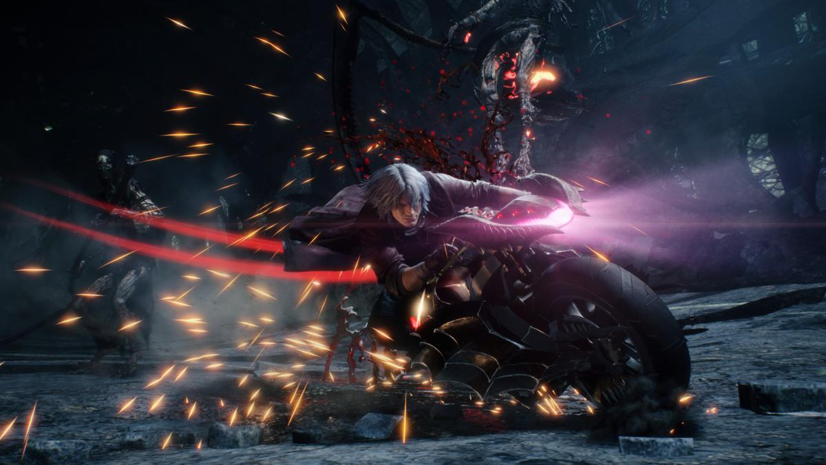 Кадр из игры Devil May Cry 5