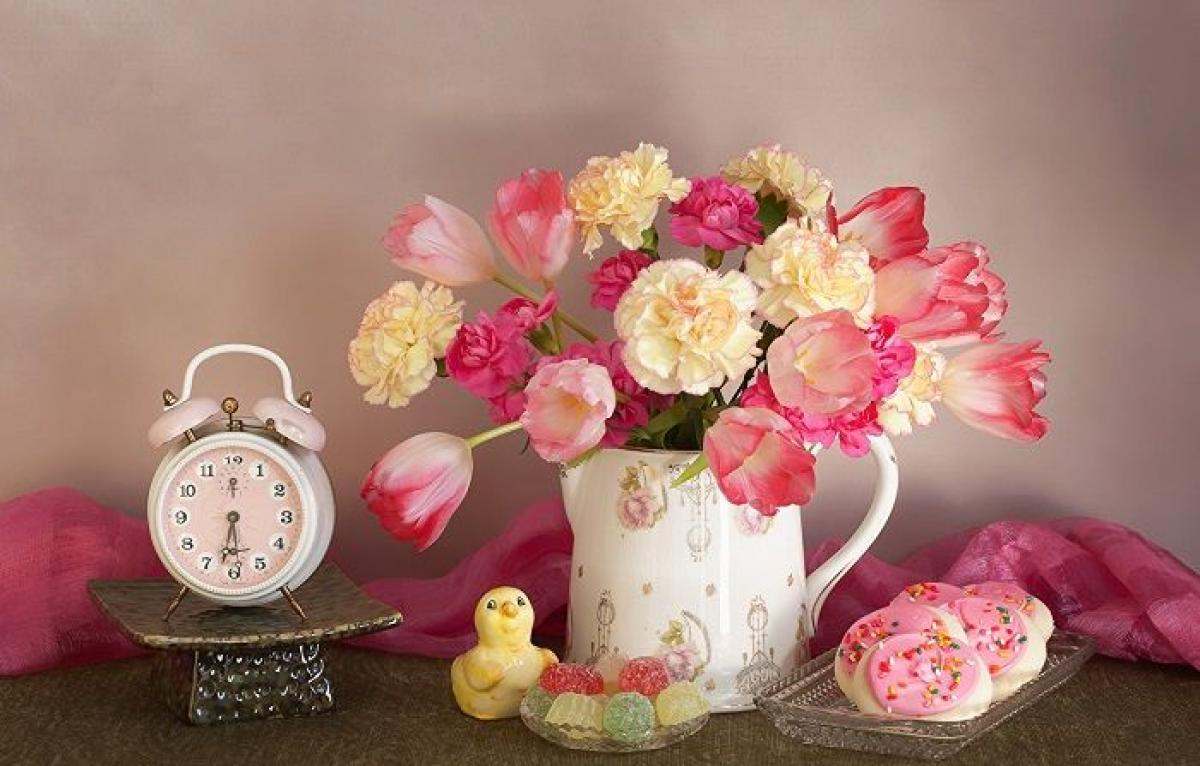 Какие цветы дарят на 8 марта фото букета для мамы