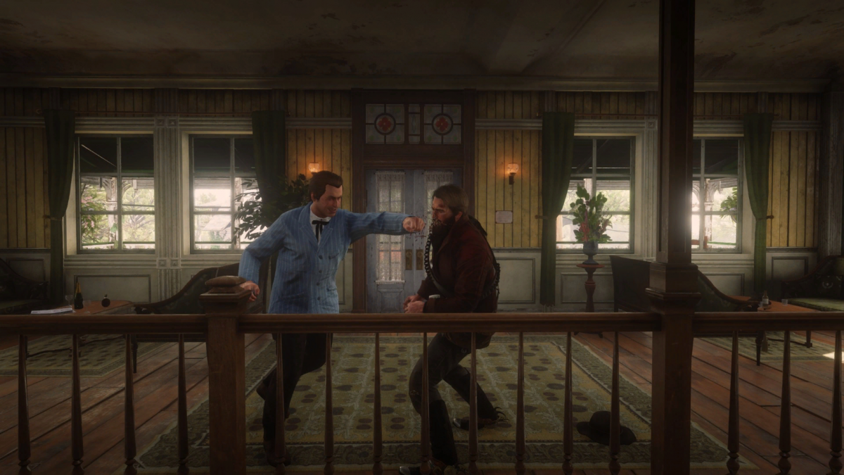 Кулачный бой в Red Dead Redemption 2