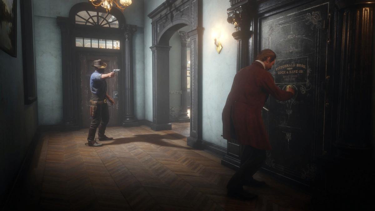 Ограбление банка в Red Dead Redemption 2