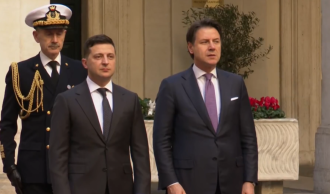 Джуппе Конте и Владимир Зеленский