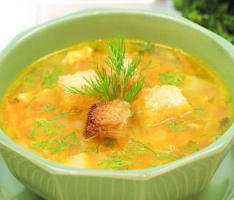 Плотный суп гороховый с копчёностями в мультиварке готовится на режиме Тушение – Суп гороховый