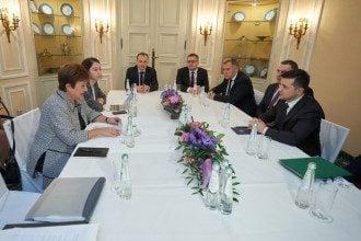 Володимир Зеленський на зустрічі з главою МВФ