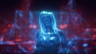 Героиня Grimes из Cyberpunk 2077
