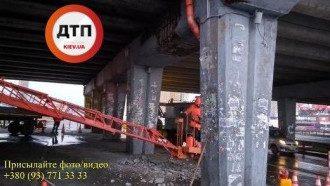 Мост на Позняках дал трещину / dtp.kiev.ua