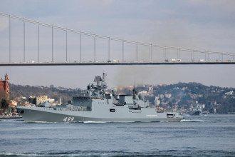 Фрегат ВМФ России адмирал Макаров отправляется в Босфор