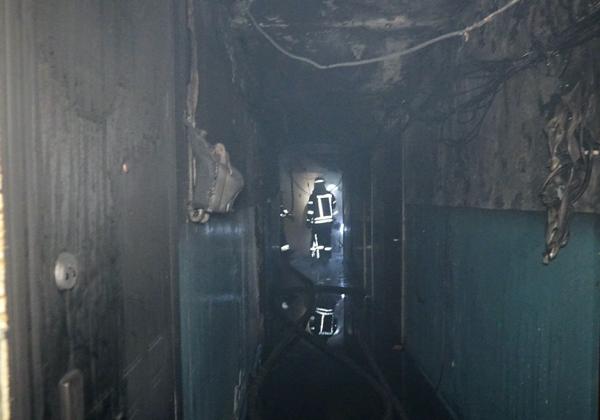 В Днепре произошел пожар в общежитии, пострадали шесть человек