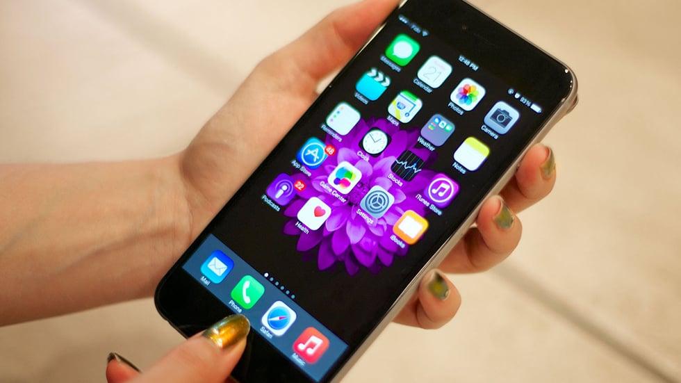 Процес зйомки скріншоту екрану на iPhone