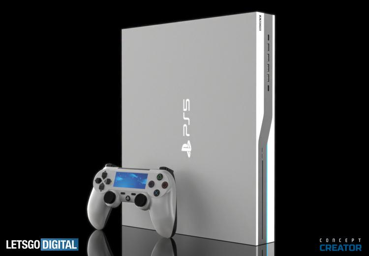 Концепт-арт білої PlayStation 5