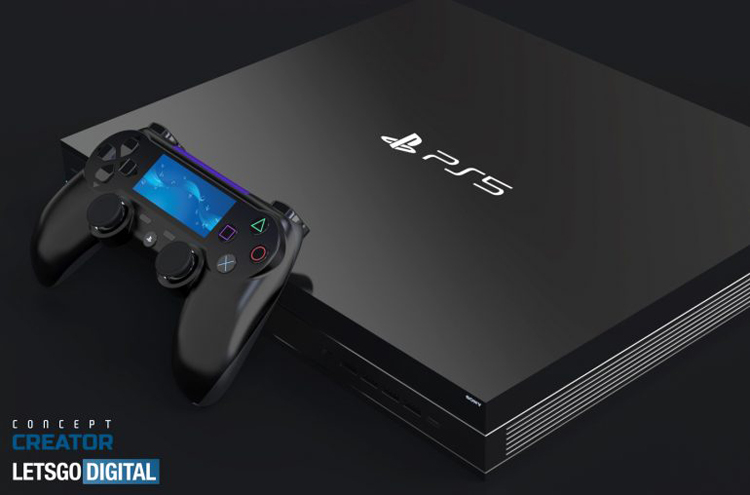 Концепт-арт чорної PlayStation 5