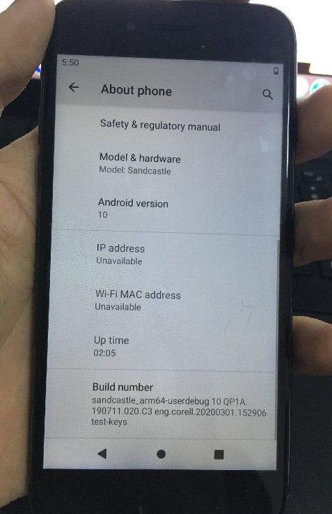 Пример работы Android 10 на iPhone 7