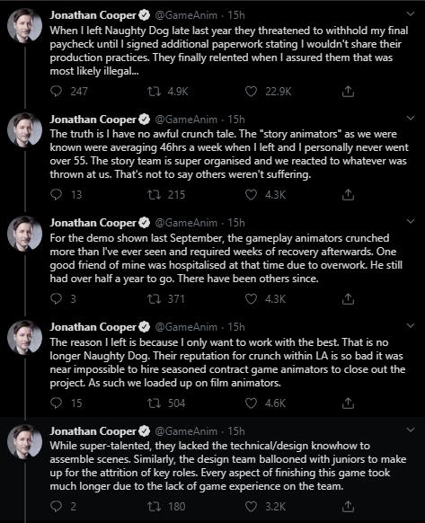 Часть твитов Джонатана Купера