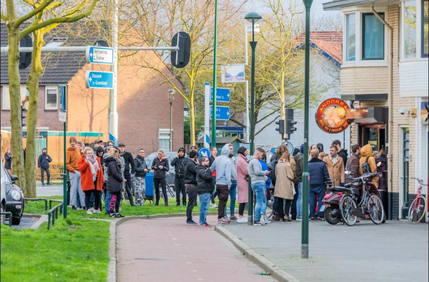 Черга за марихуаною в Нідерландах