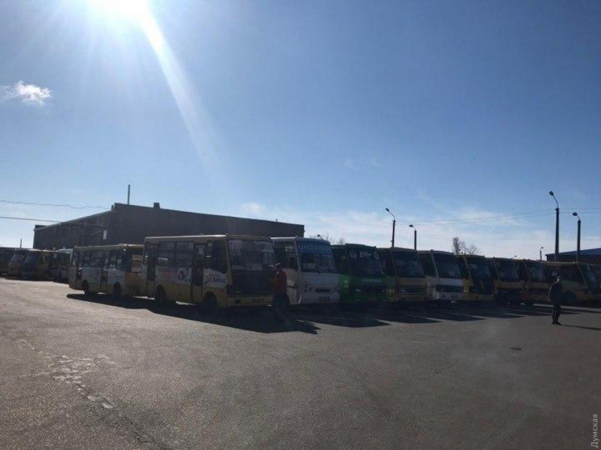 В Одессе маршрутки не вышли на работу / Думская