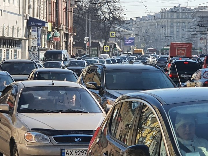 В Харькове пробки