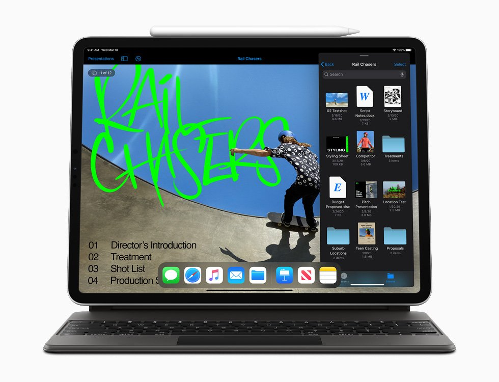 Приклад використання тачпада в iPad Pro 2020 року