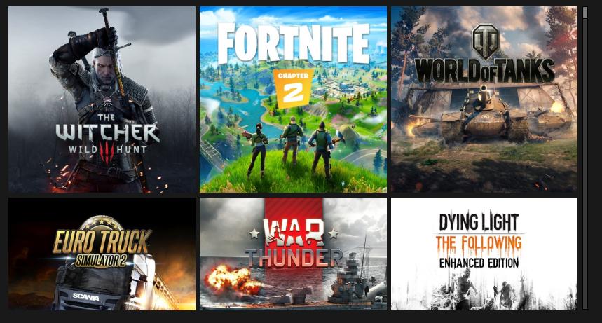 Пример доступных в GeForce NOW игр