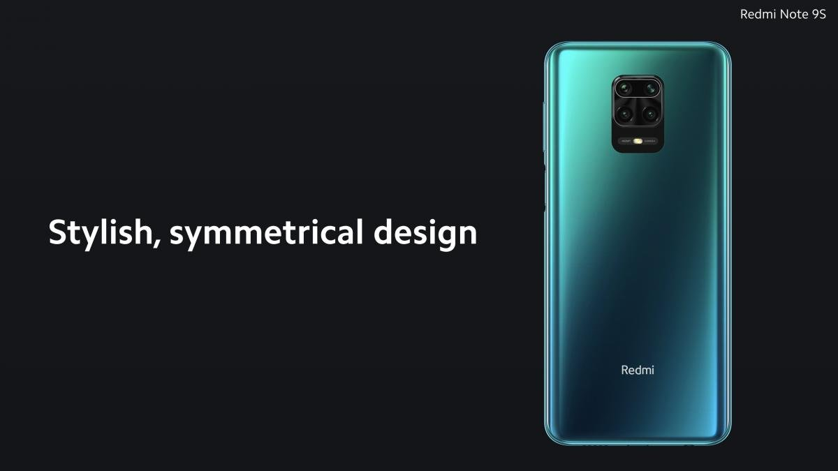 Дизайн Redmi Note 9S