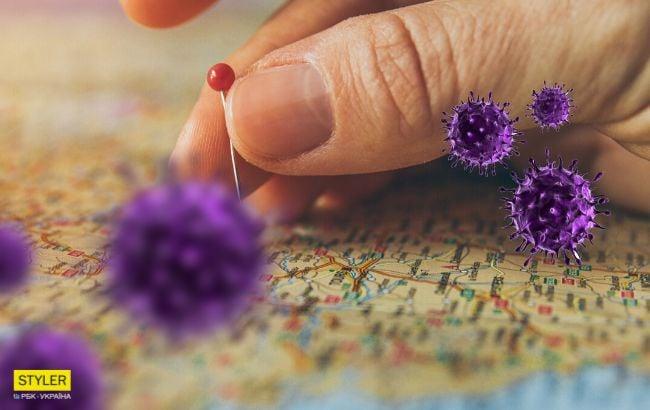 коронавірус, карта