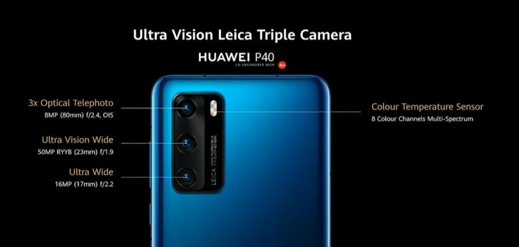 Камера Huawei P40
