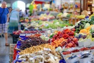ринок, овочі, фрукти