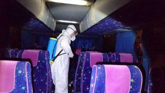В автобусе провели тщательную дезинфекцию / Фото: Информатор