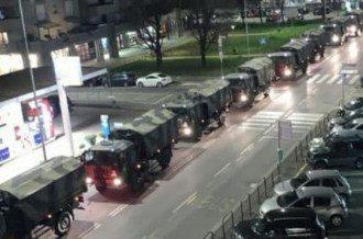 Итальянская армия перевозит гробы с телами умерших / Скриншот