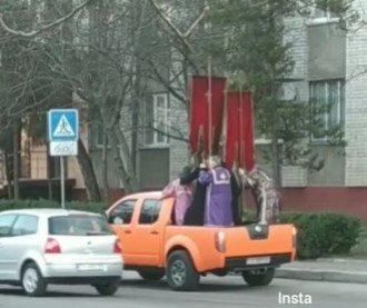 """В Черкассах устроили """"инквизицию"""" коронавирусу / скриншот из видео"""