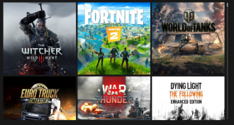 Приклад доступних в GeForce now ігор