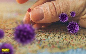 коронавирус, карта