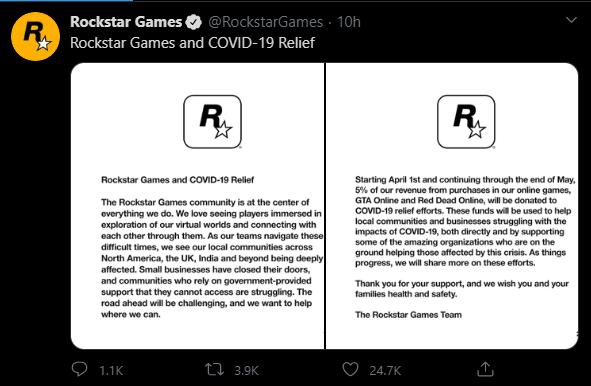 Заявление Rockstar