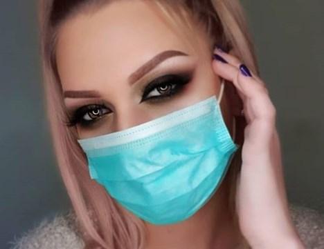 Макіяж очей під маску для обличчя
