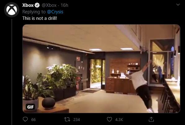 Твит официального аккаунта Xbox