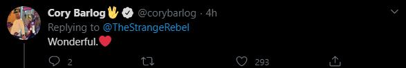 Твіт Кору Барлога