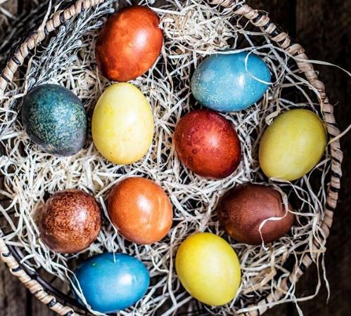 Пасхальные яйца – Как красить яйца домашними красителями