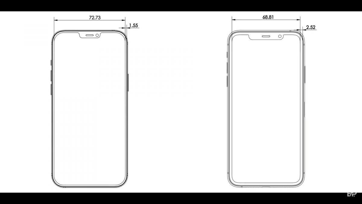 Чертеж iPhone 12