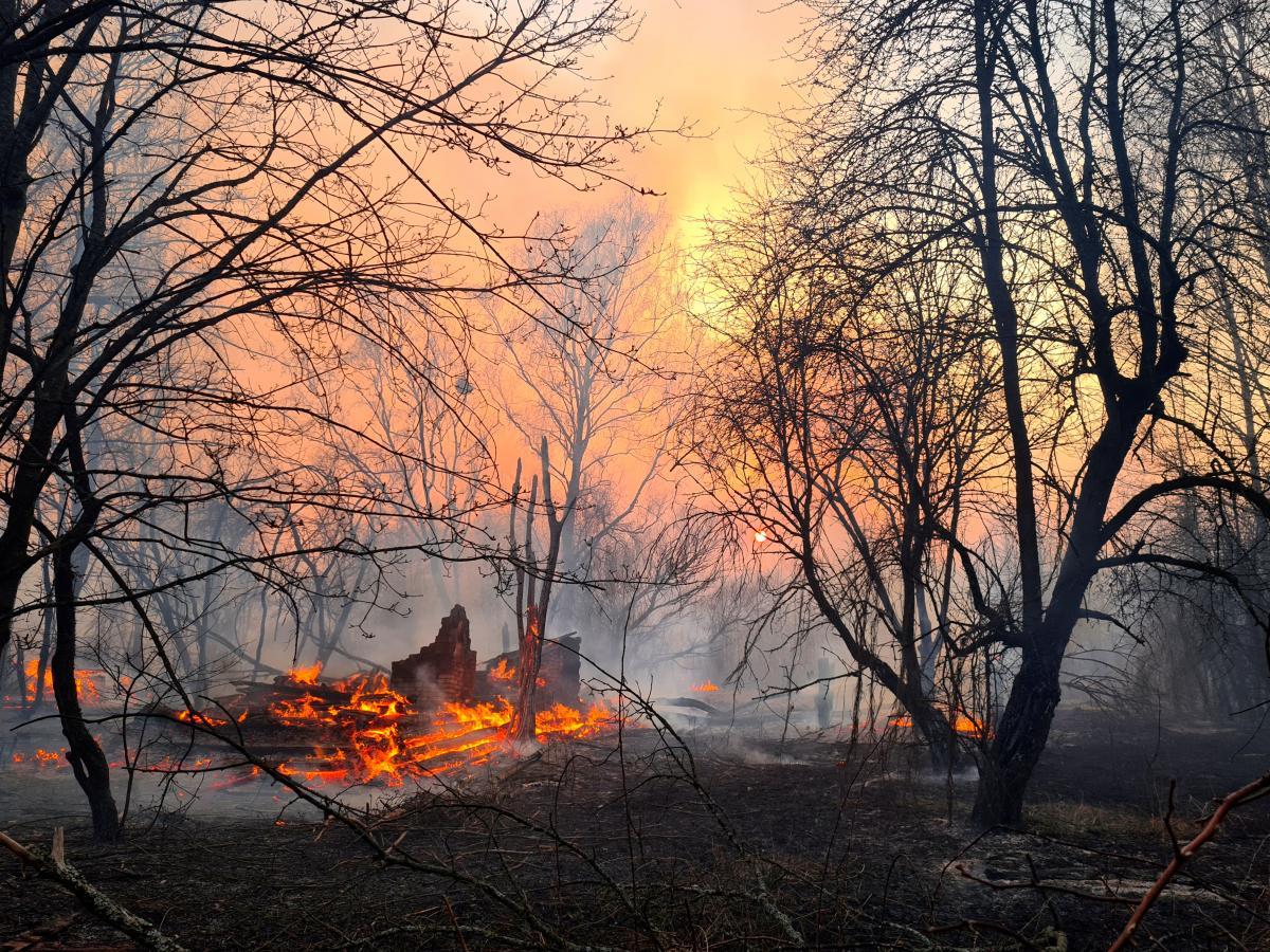 Чорнобиль, пожежа