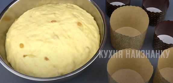 Форми для випікання заповнюйте тістом для пасок тільки на третину – Рецепт паски на півлітра молока