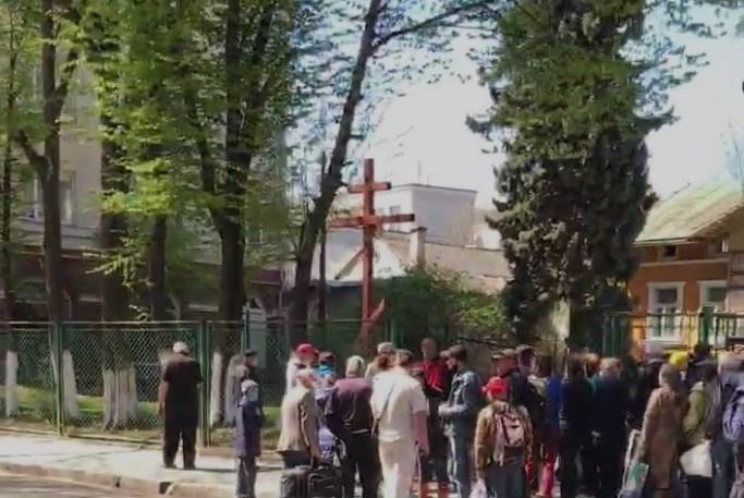 Украинцы нарушили карантин в Ивано-Франковске / сриншот из видео