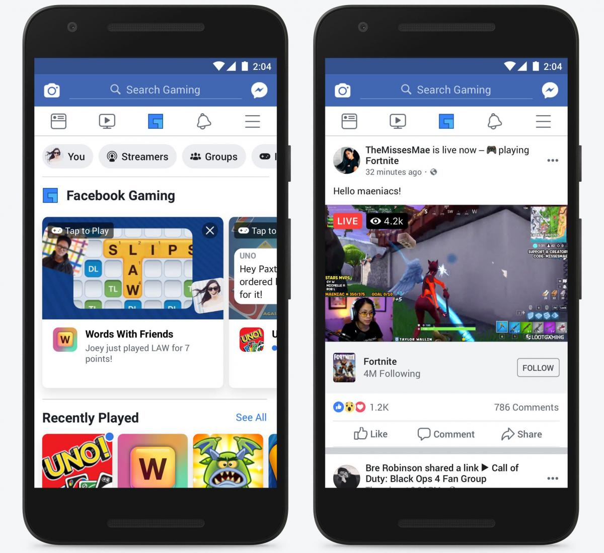 Интеграция Facebook Gaming