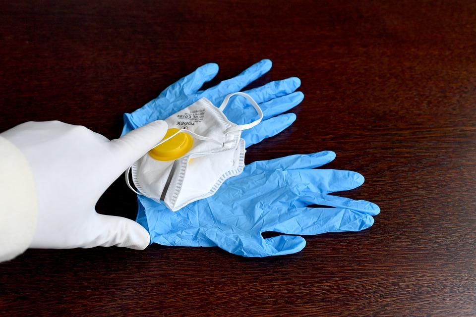 коронавирус, перчатки, маска